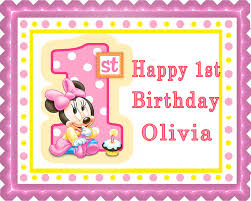minnie mouse 1st birthday baby minnie mouse 1st b birthday edible birthday cake topper