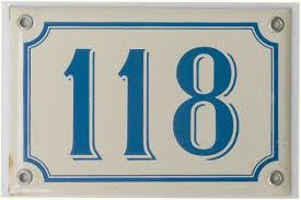 vintage french blue u0026 white enamel house number 118 omero home