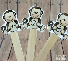 five little monkeys puppets and literacy activities