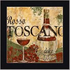 wine tuscan italian dining room decor print framed