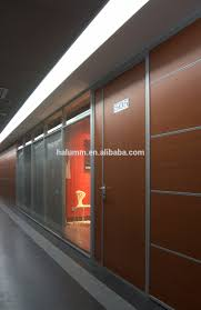 solid soundproof office wood partition designer glass wood