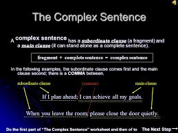 sentences sentences objective by the end of this section you