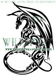 eastern water dragon clipart tribal pencil and in color eastern