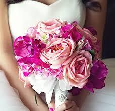 Silk Bridal Bouquet Custom Silk U0026 Artificial Wedding Bouquet Package Designed In The Gta