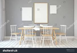 interior diningroom interior scandinavian styleframe mockup stock