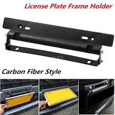lexus accessories license plate universal racing carbon fiber look car number license plate frame