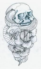 skull snake and roses by pulverisedfetus on deviantart