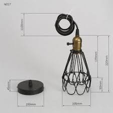 cl on light bulb shade frled fashion vintage wire l cage diy lshade industrial l