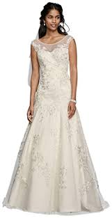 aline wedding dresses david s bridal tulle aline wedding dress with lace applique