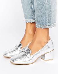 look womens boots size 9 look cheap clothing sale look metal detail block heel