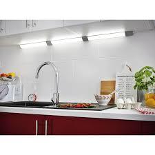 lairage led cuisine réglette à fixer triangle led intégrée 55 cm inspire 6 w gris