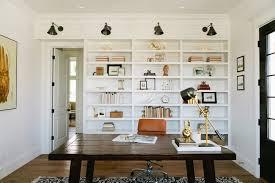 Bookshelves Library Home Office Bookshelves Home Office Farmhouse With Black And White