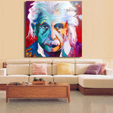 online shop hdartisan picture albert einstein portrait abstract online shop hdartisan picture albert einstein portrait abstract pop art on canvas print or living room picture wall art no framed aliexpress mobile