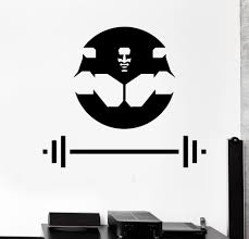 vinyl wall decal muscled bodybuilding barbell gym sports stickers vinyl wall decal muscled bodybuilding barbell gym sports stickers 339ig