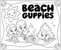free bubble guppies coloring pages animation coloring pages