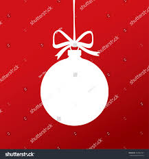 white christmas ball vector template symbol stock vector 337942787