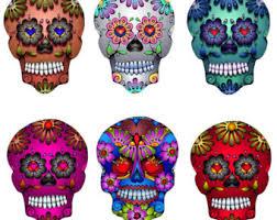 sugar skull clipart folk pencil and in color sugar