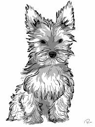 teacup yorkie coloring pages coloring pages ideas