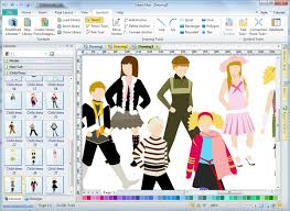 layout software free clothing design software edraw