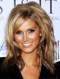 medium haircut thick wavy with bangs trend mid length hairstyles