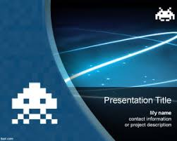 free space invaders powerpoint templates is a free ppt template