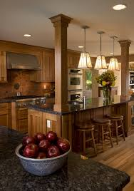 early 20th century floor to ceiling craftsman style square oak