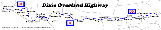 Map Of Florida Highways by Dixie Overland Highway At Americanroads Us