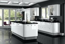 cuisine blanche avec plan de travail noir meuble de cuisine avec plan de travail cuisine blanche avec plan