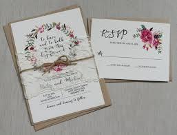 Shabby Chic Wedding Invitations by Rustic Floral Boho Wedding Invitation Lace Wedding Invitation