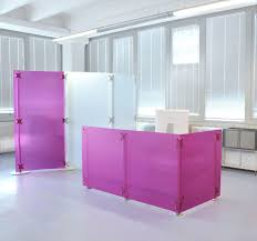 Modular Reception Desk Modular Reception Desk Vinyl Fluowall Screens Paxton
