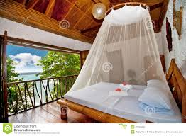 bedroom with canopy bed with sea view stock photography image bed bedroom canopy