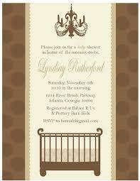 classic baby shower invitations chandelier invite baby