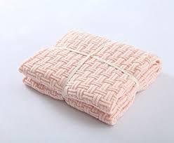 light pink throw blanket amazon com crochet blanket lakemono luxury organic knitting throw