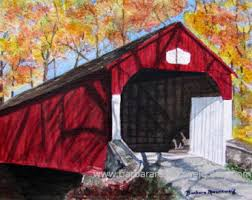 Red Shed Home Decor Bridge Home Decor Etsy