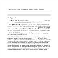 sample equipment lease agreement template alberta commercial