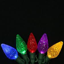 c9 led christmas lights ecosmart 100 light multi c9 string set 703115ho1 the home depot