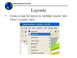 layout view zoom lecture 4 intro to the vector data model and to map layout ppt