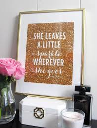 Sparkle Wall Decor She Leaves A Little Sparkle Wherever She Goes Print Art