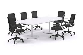 Large Boardroom Tables 8 Person Large Boardroom Table White Legs Sapphire Office