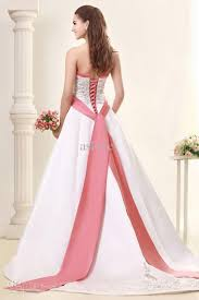 wedding dresses with pink accent high cut wedding dresses