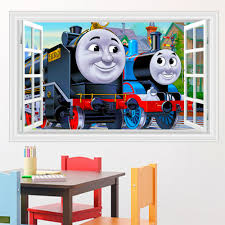 thomas room decorations promotion shop for promotional thomas room kids bedroom cute thomas wall decor sticker removable children wall decals adhesive wall pictures for living room
