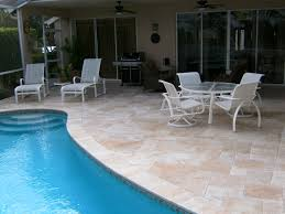 Pool Patio Pictures by Travertine Instalation Photo Examples