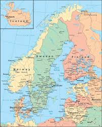 Africa Map With Cities by Large Detailed Political Map Of Scandinavia With Roads And Cities