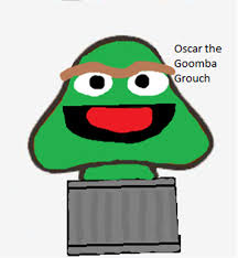 oscar the grouch goomba by allthestuffilike94 on deviantart