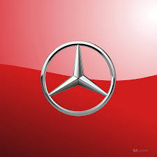 mercedes benz logo mercedes benz 3d badge on red digital art by serge averbukh
