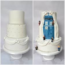 dual sided dr who wedding cake handpainted tardis with lego men