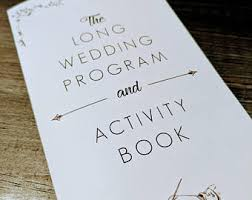 wedding program book wedding program book etsy
