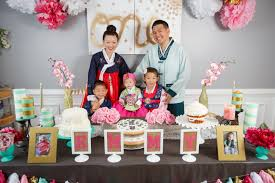 1st birthday party emmy s dohl korean 1st birthday party your abode