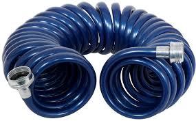 rainmaker revolution coiled garden hose 3 8 in x 25 ft