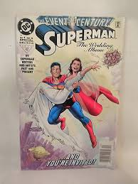 superman the wedding album superman the wedding album 1 dec 1996 dc white embossed cover